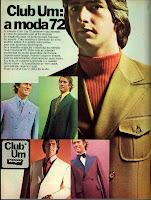 propaganda ternos Club Um - 197; moda anos 70; propaganda anos 70; história da década de 70; reclames anos 70; brazil in the 70s; Oswaldo Hernandez