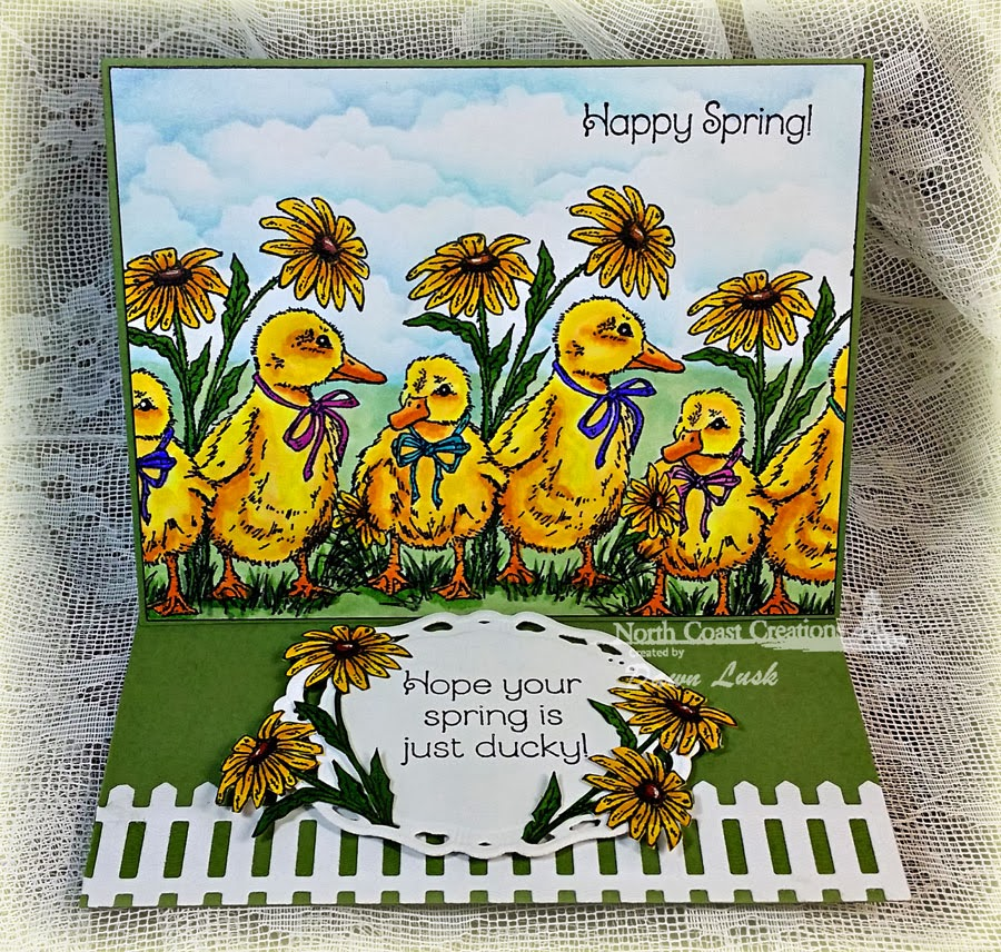 Stamps - North Creations Happy Spring, ODBD Fence Die