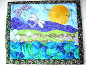 """Flying"" art quilt"