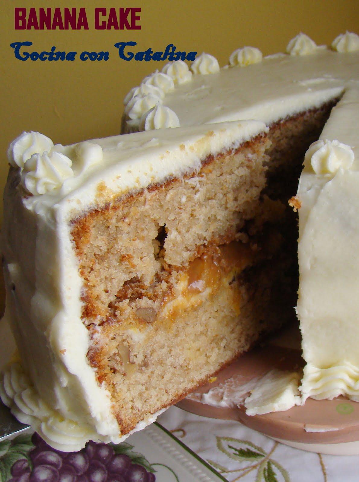 COCINA CON CATALINA: Tarta de platano o Banana Cake