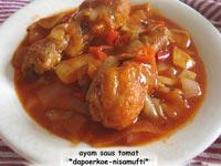 resep cara buat ayam kuah tomat spesial