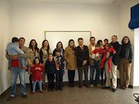 Alcalde con la familia de Rafael Martos y Rosario Gómez