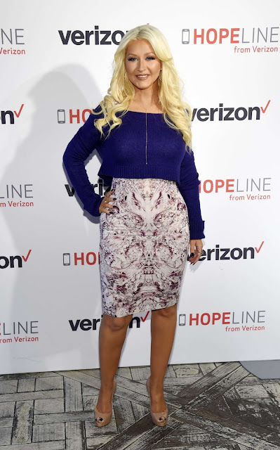 Actress, Singer @ Christina Aguilera - 'HopeLine From Verizon' Event in West Hollywood
