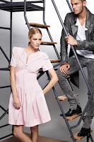Къса рокля А-силует с висока талия Karl Lagerfeld пролет-лято 2013