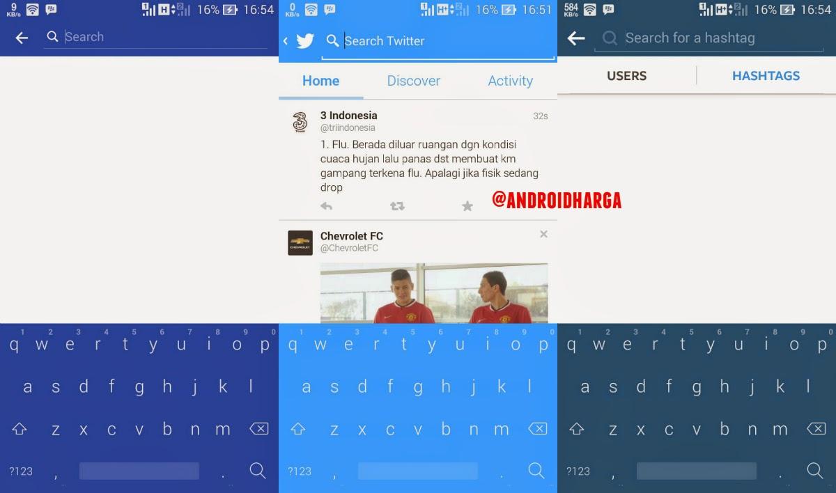Cara Mengubah Warna Keyboard Android ASUS Zenfone 6 Sesuai Warna Status Bar