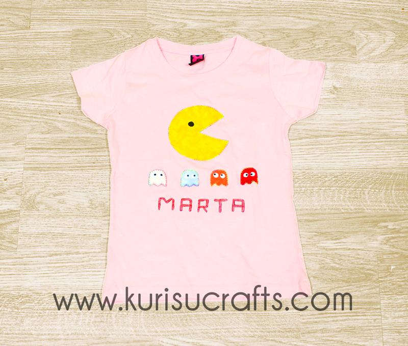 Camiseta Comecocos Kurisu Crafts para niña