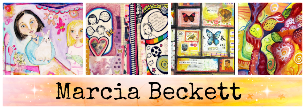 Marcia Beckett:  Art Journaling and Mixed Media