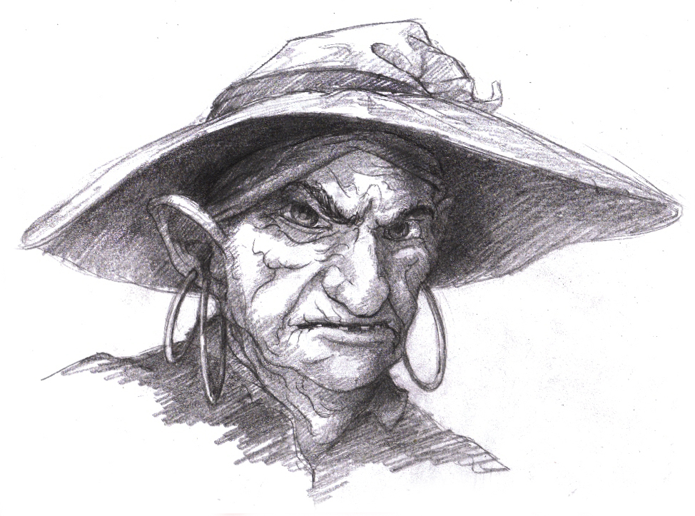 Evil Witch Drawing Wrinkled Evil 39 ol Witch