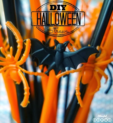 DIY Halloween Straws