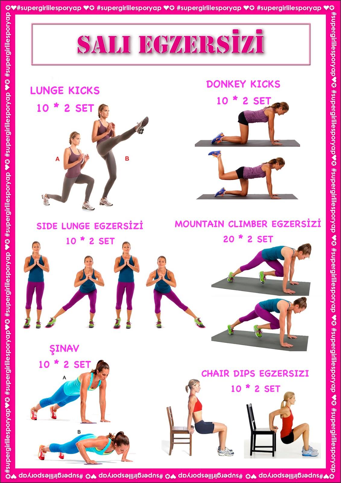 Perşembe egzersizleri - Haftalık egzersiz programı