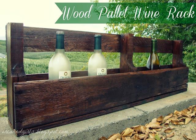 DIY: Pallet Wine Rack by Orchard Girls