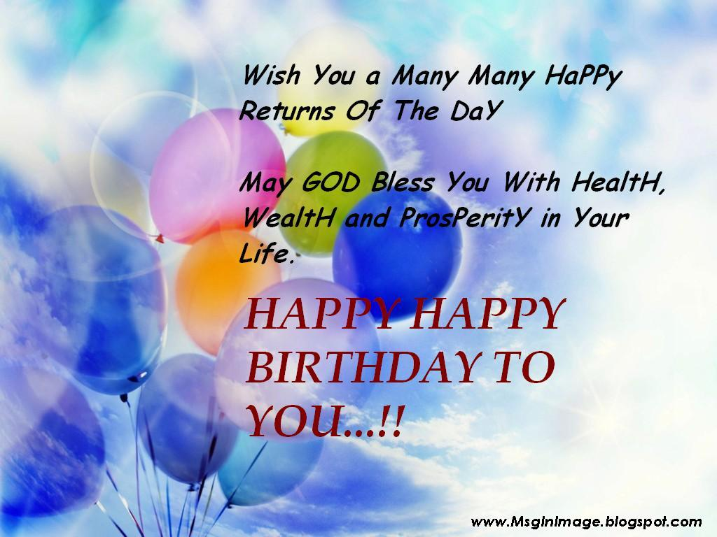 Happy Birthday Quotes Pictures ~ Pictures of happy birthday quotes message in image