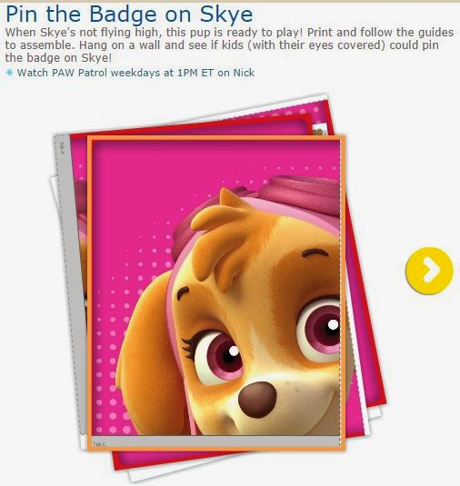 photo relating to Free Printable Paw Patrol Badges called Cost-free Printable Pin the Badge upon Skye. Oh My Routines for