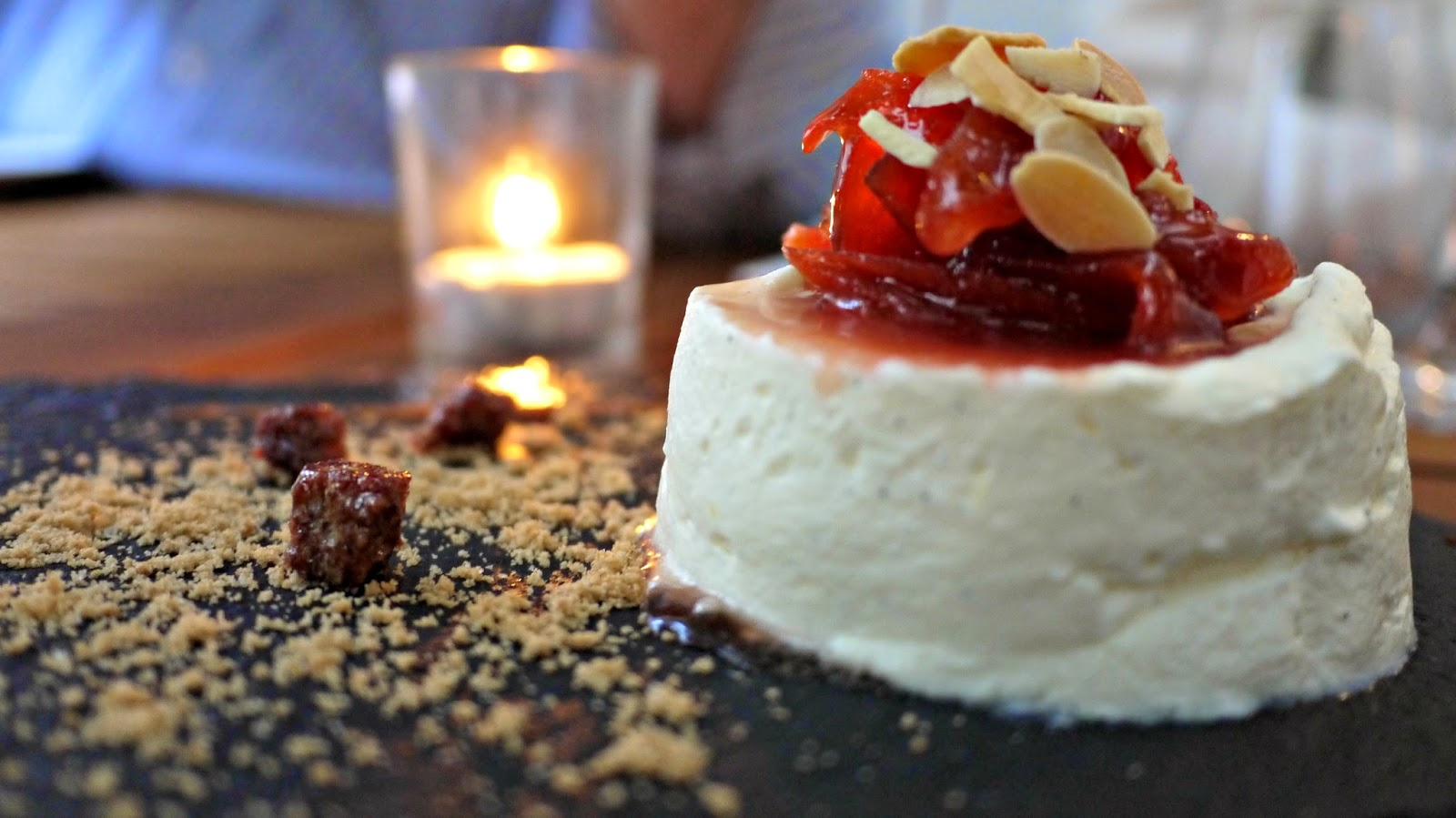 Mazi Greek Yoghurt mousse, quince pudding, cinnamon rusks