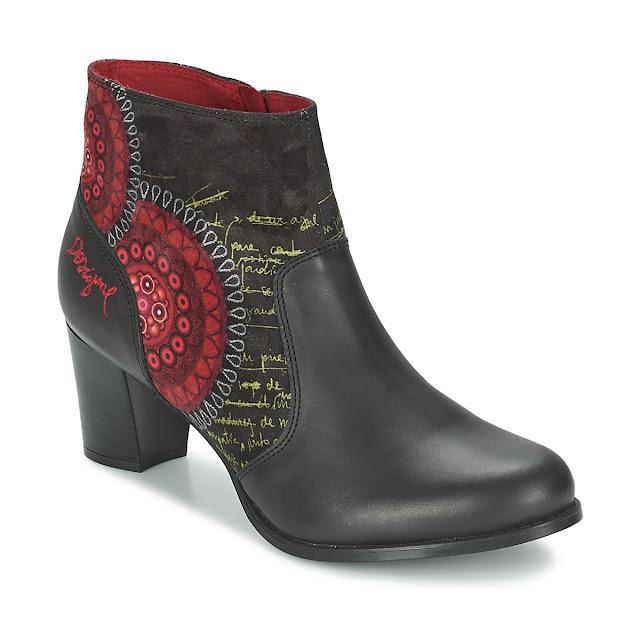 scarpe desigual in nero e rosso
