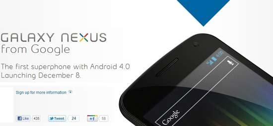 Samsung Galaxy Nexus release date in canada