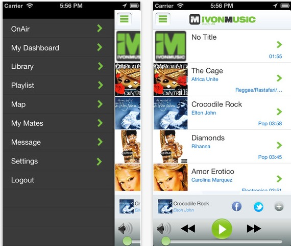 social musica streaming