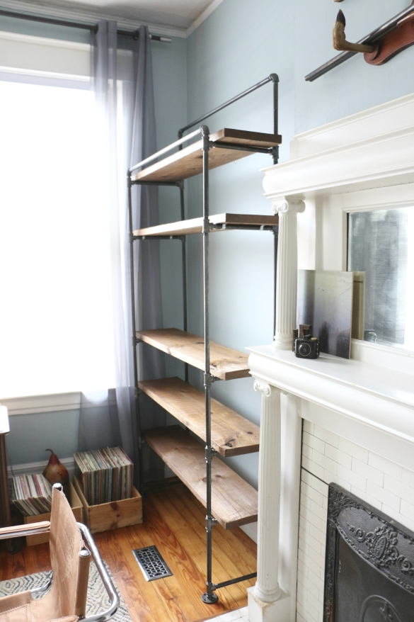 17 apart industrial style the bookcases are in for Custom bookcase plans