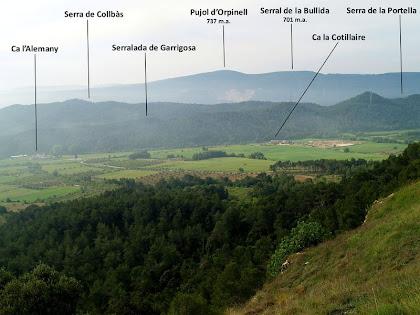 La Vall del Torrent de Garrigosa des de La Tossa de Montbui