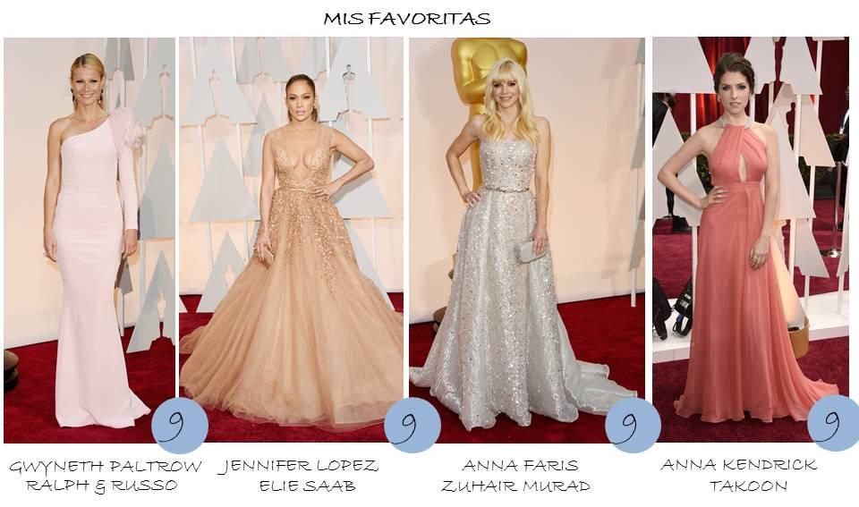 OnlyNess - Mis favoritas en la Alfombra roja Oscars 2015