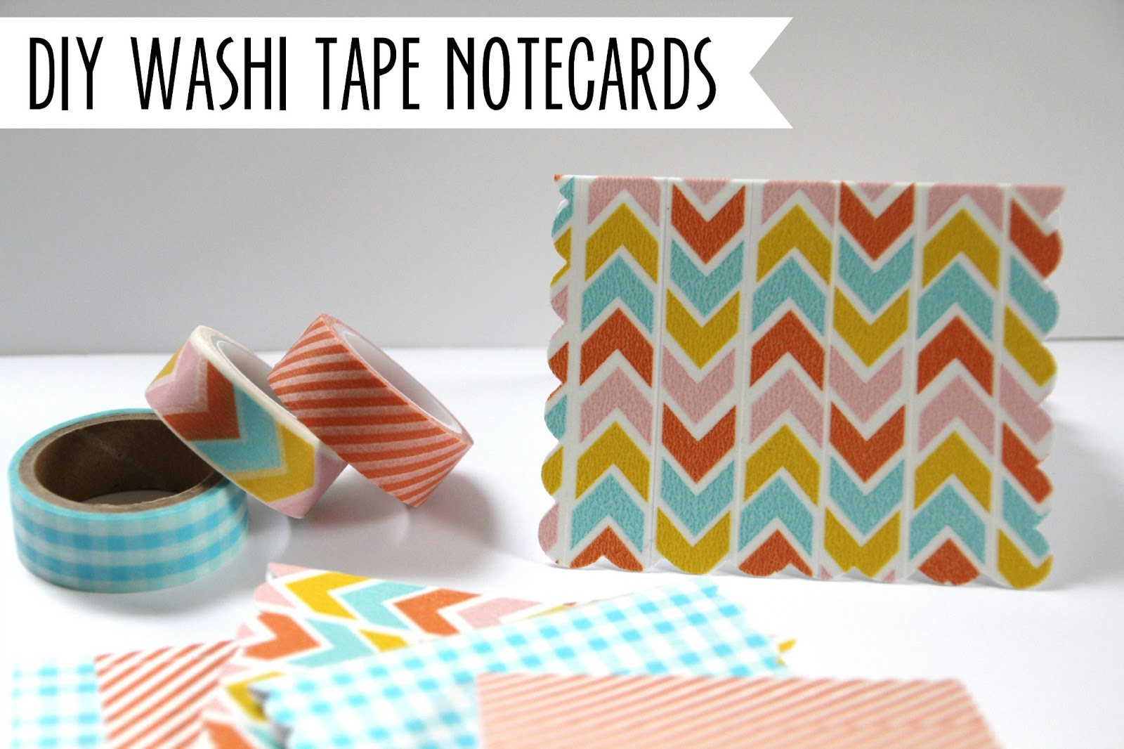 lovely little life diy washi tape notecards. Black Bedroom Furniture Sets. Home Design Ideas