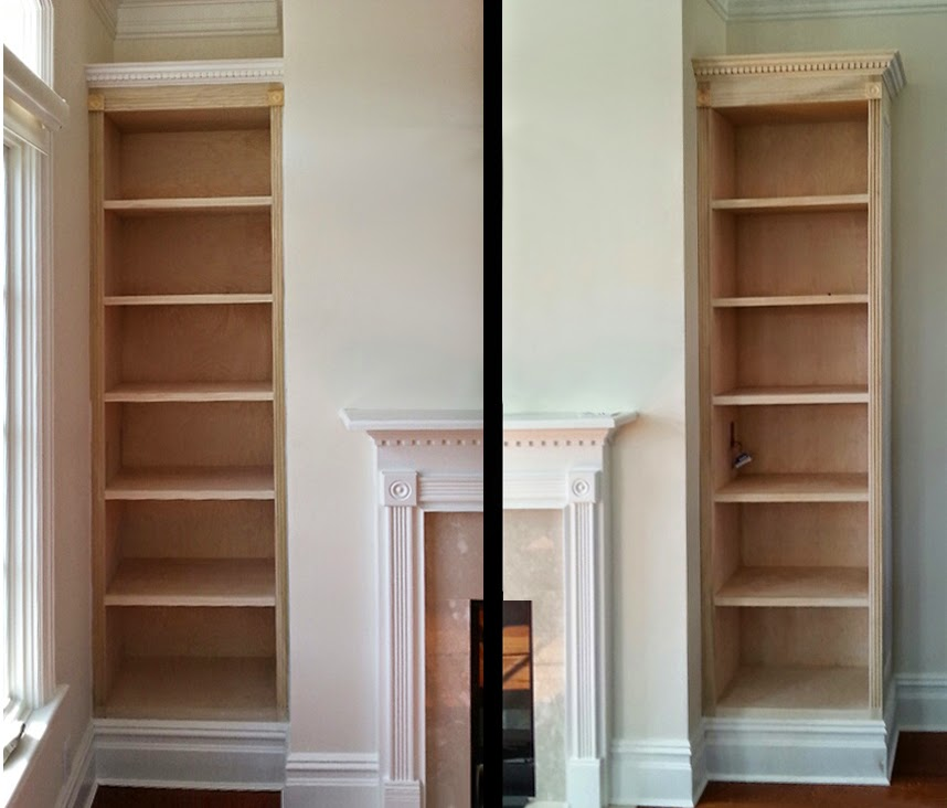 New Flanking Fireplace Shelves