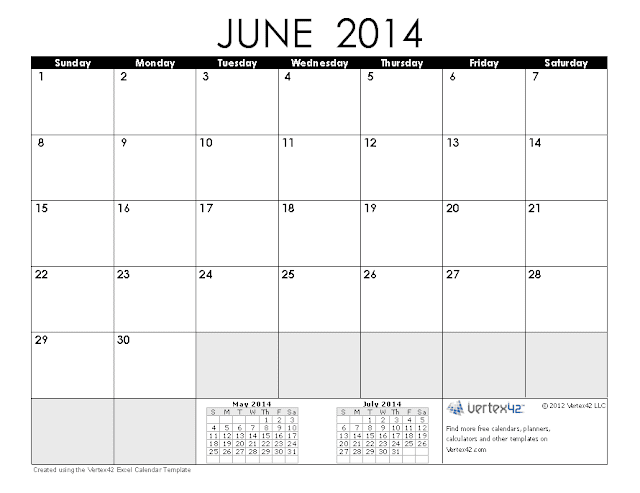 June 2014 Calendar Printable 1 Printable Calendar 2014 Blank