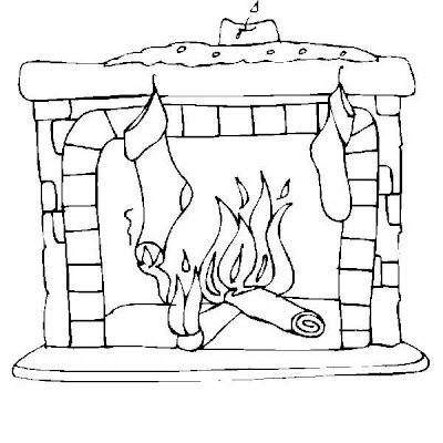 Chimenea en navidad para colorear dibujo views - Dibujos de chimeneas de navidad ...