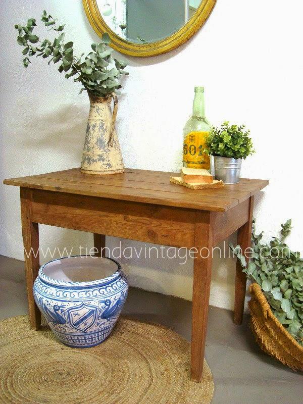 Mesas tocineras antiguas de madera principios de siglo restauradas en valencia