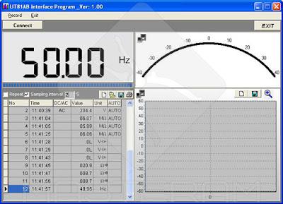Программное обеспечение осциллографа-мультиметра UNI-T UT81B (режим мультиметра)