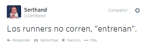tweet running serthand twitter