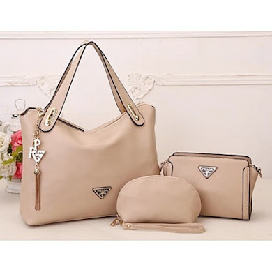 AAA WITH PRADA LOGO – APRICOT