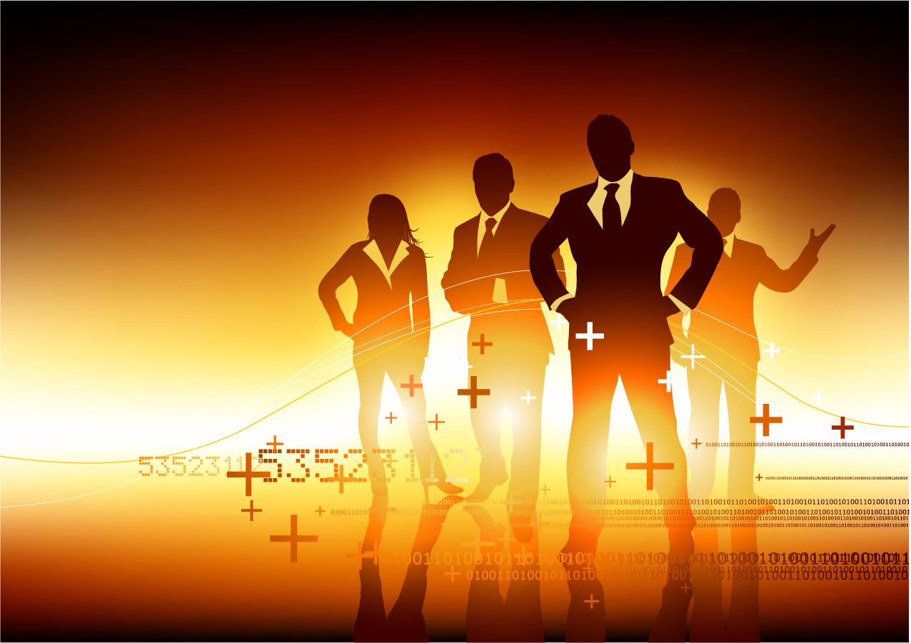 成功したビジネスマンをイメージした背景 beautiful successful people イラスト素材4