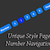 Unique Style Page Number Navigation for Blogger