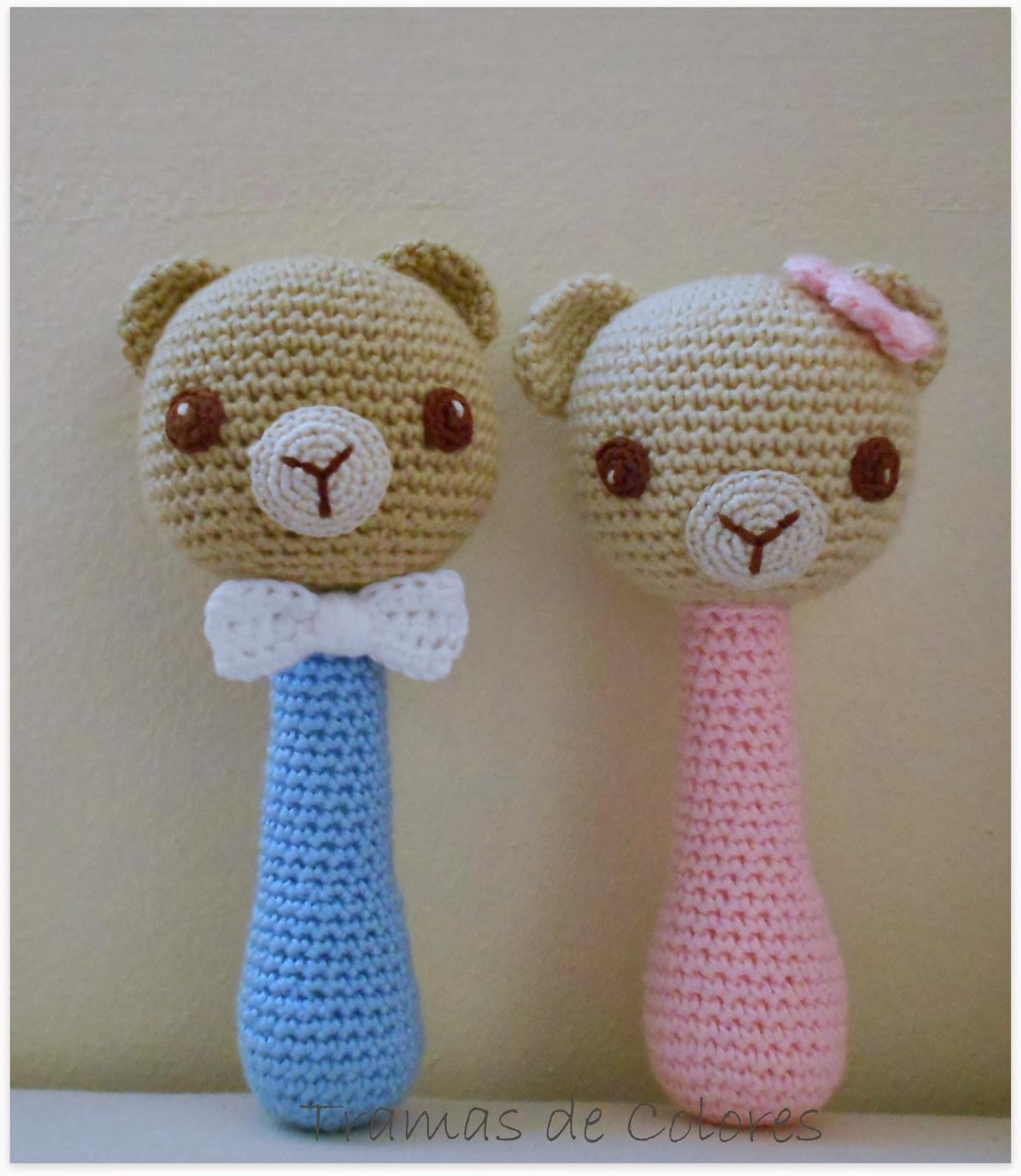Sonajeros de Crochet - Tramas de Colores