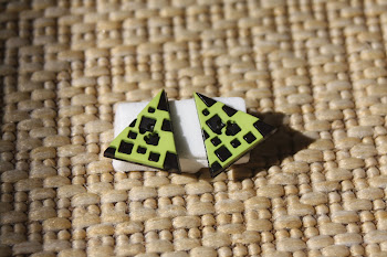 Retro black and green triangles