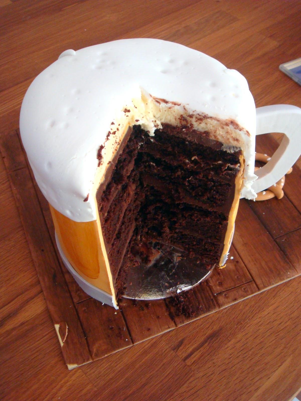 Beer Birthday Cake Cookies