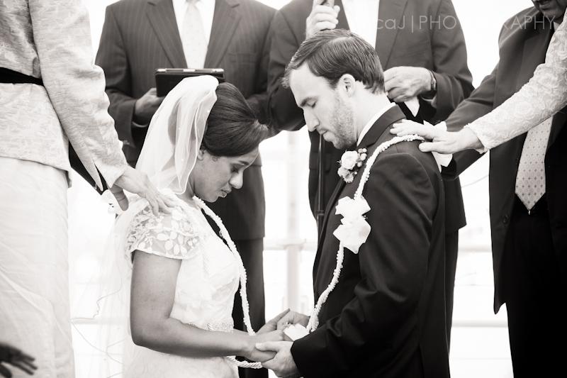 mexican wedding lasso on bride and groom