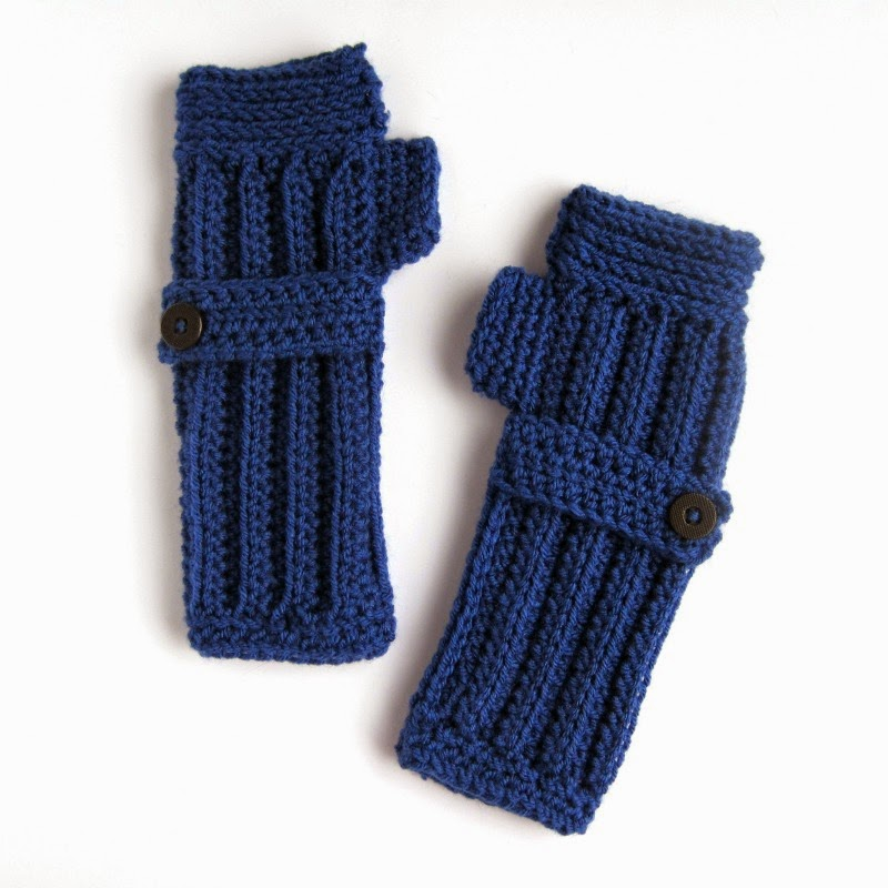 Crochetet Fingerless Gloves | She's Got the Notion