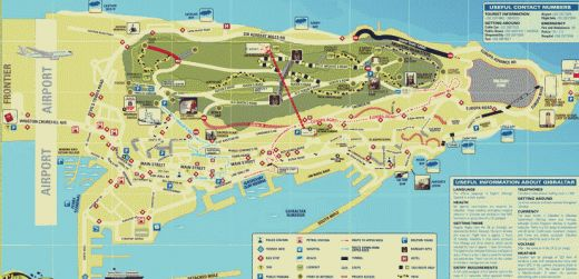 Map of cities Map of Gibraltar