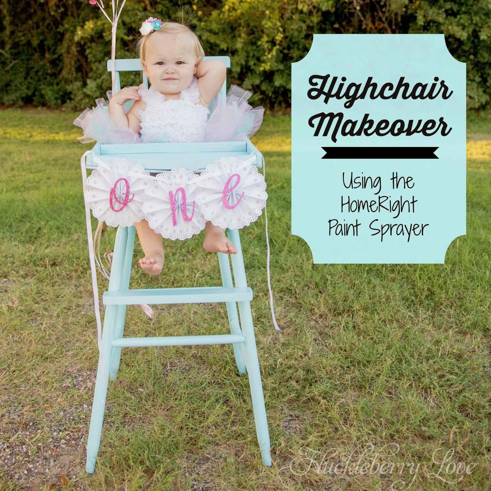 huckleberry love: highchair makeover {using the homeright paint
