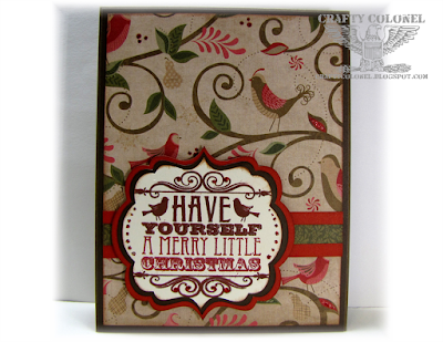 Crafty Colonel Donna Nuce for Cards in Envy Challenge Blog, CTMH Pear & Partridge, Christmas Card