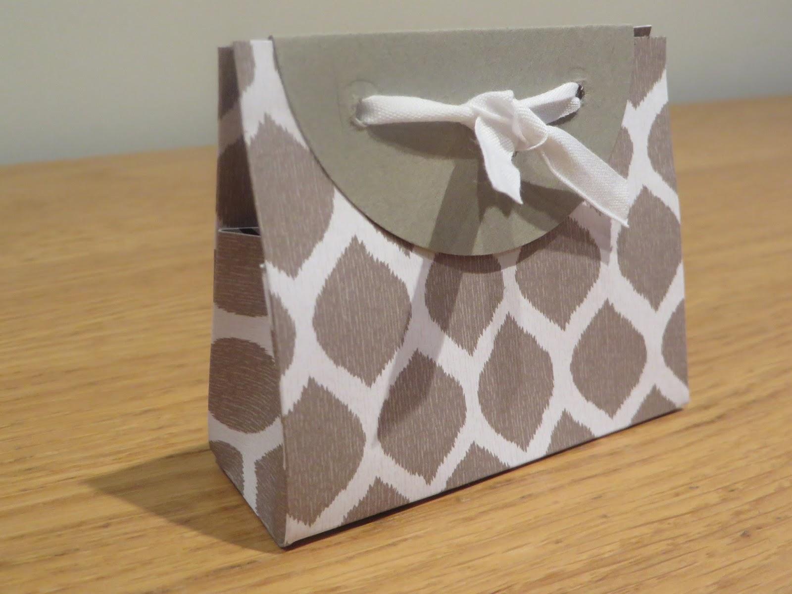 Craftycarolinecreates Mini Gift Bags Tutorial Using Go Wild 6 X 6