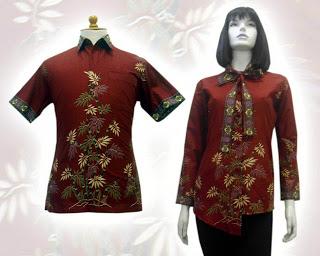 Baju Batik Indonesia Kain Batik Modern Pria Wanita