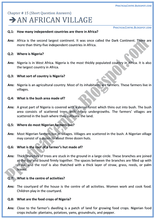 an-african-village-questions-answers-english-x