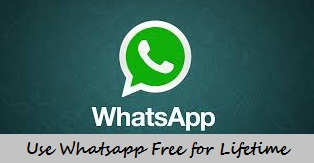 Make Your Whatsapp Free Use to Lifetime