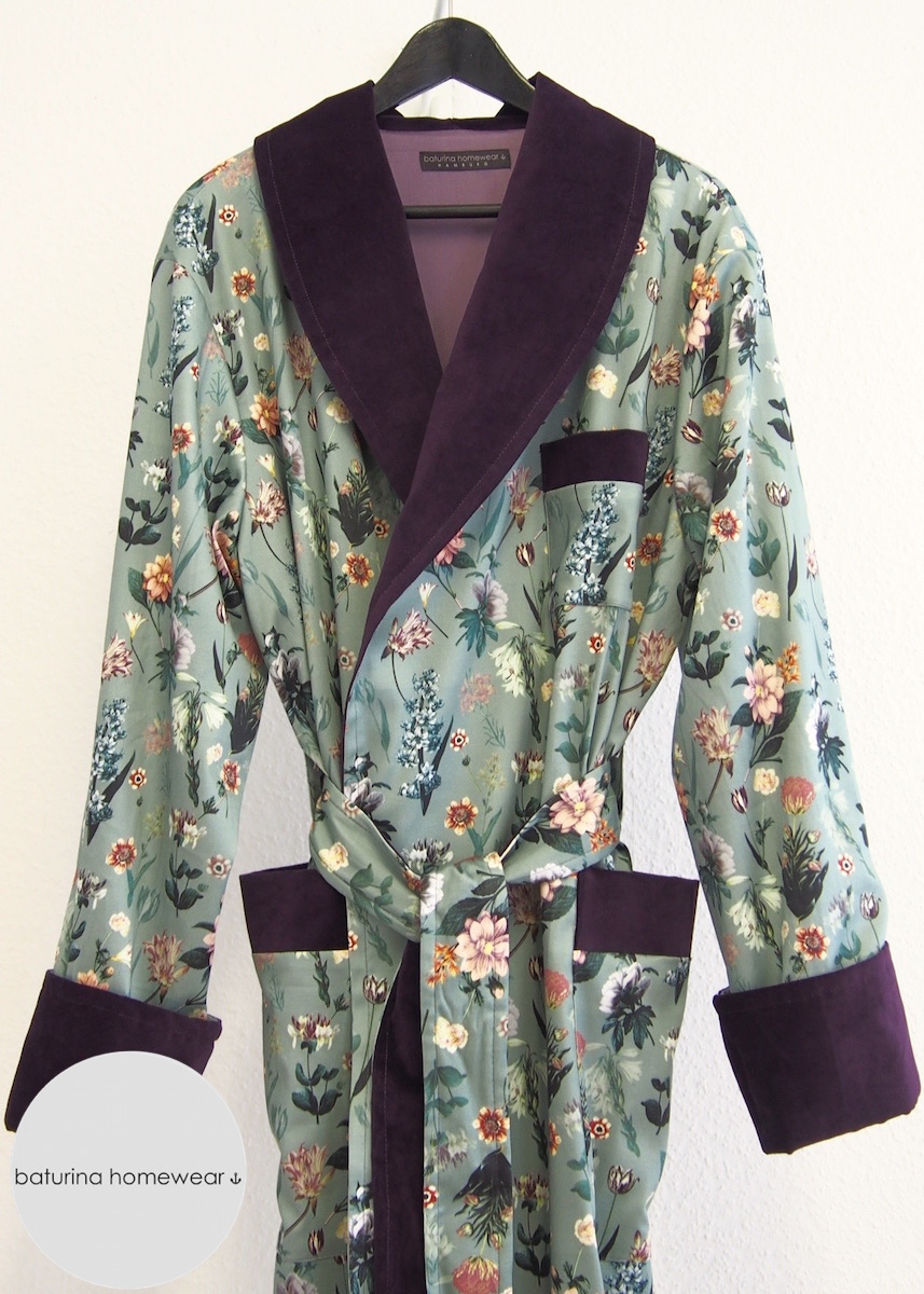long floral cotton dressing gown