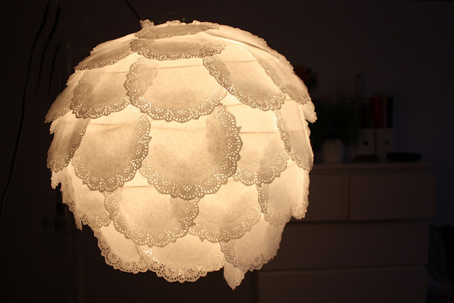 fosfeno candeeiro decoraçao naperon papel