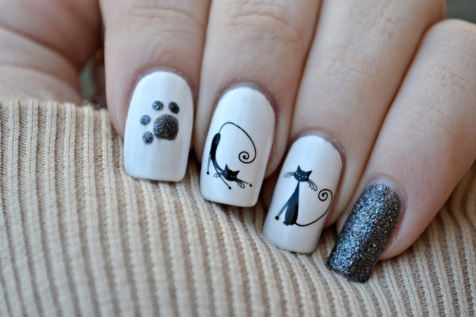 cute cats nails