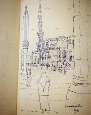 Sketsa Makkah dan Madinah Karya Ridwan Kamil 2